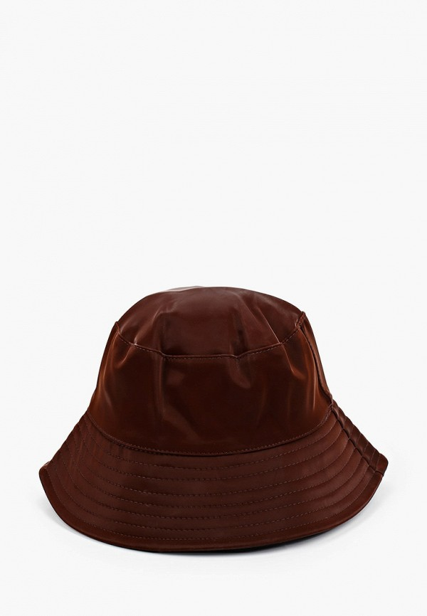 женская панама topshop, коричневая