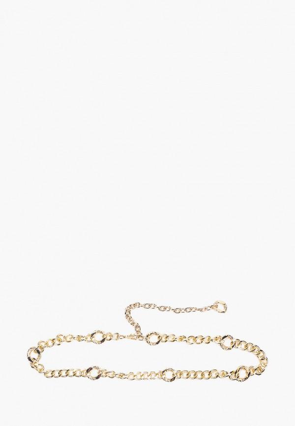 женский ремень topshop, золотой