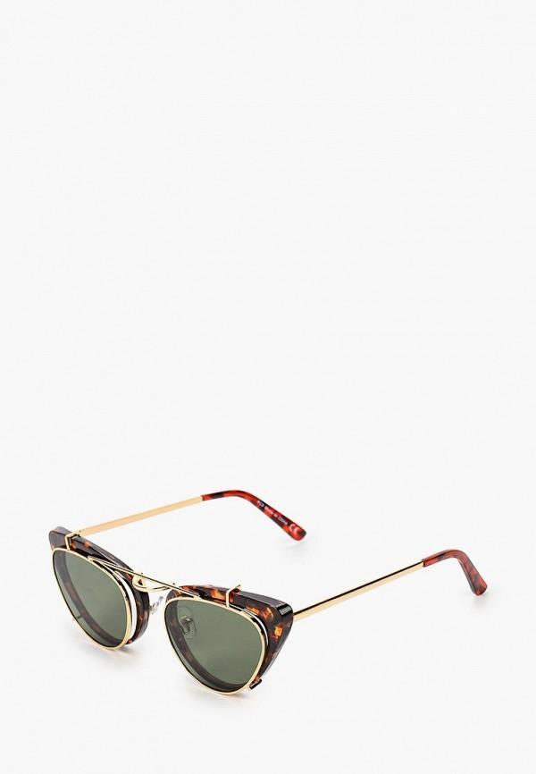женские солнцезащитные очки topshop, коричневые