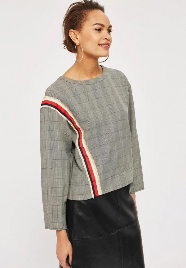 Купить Блуза Topshop, TO029EWALTR6, серый, Весна-лето 2018