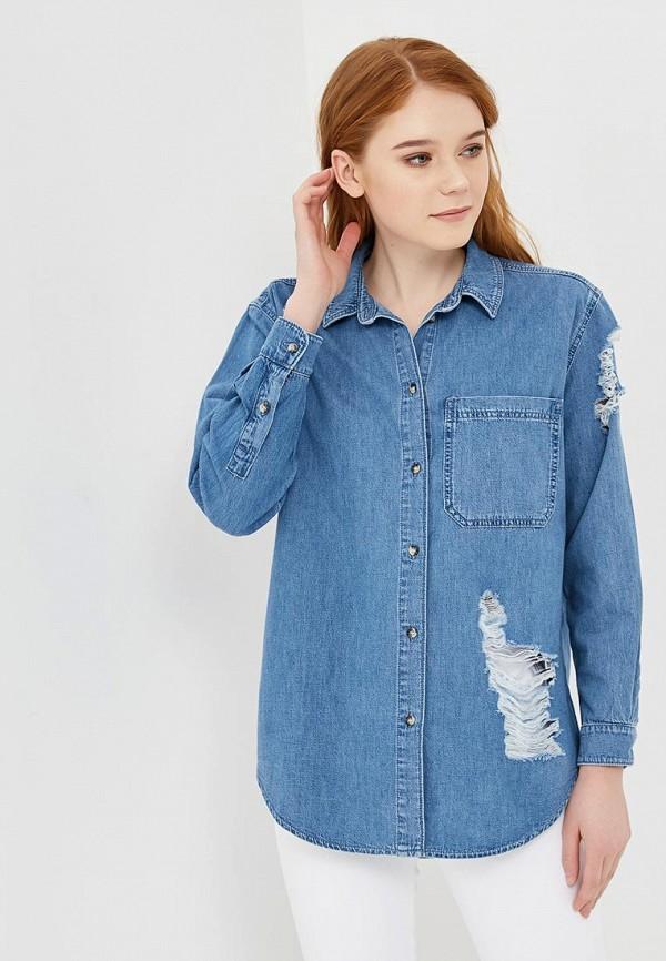 Рубашка джинсовая Topshop Topshop TO029EWAPRZ4 рубашка джинсовая dshe dshe mp002xw1av4c