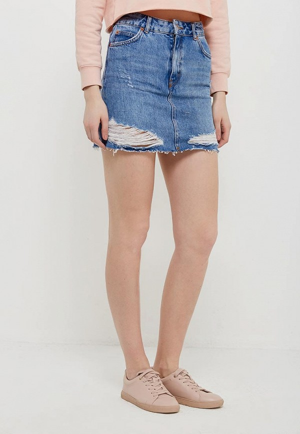 Юбка джинсовая Topshop Topshop TO029EWARXF5 topshop джинсовая юбка