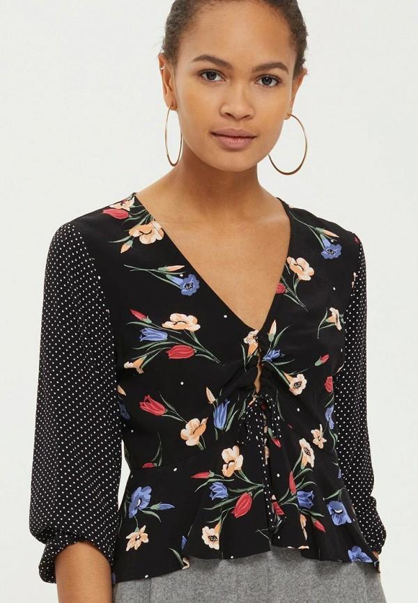 Купить Блуза Topshop, TO029EWARXH6, черный, Весна-лето 2018