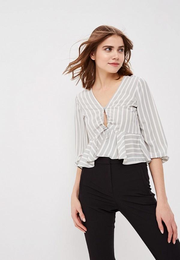 Купить Блуза Topshop, TO029EWAYWK0, серый, Весна-лето 2018