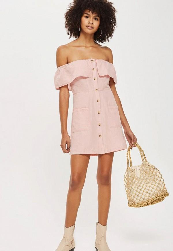 Купить Платье Topshop, to029ewbakc2, розовый, Весна-лето 2018
