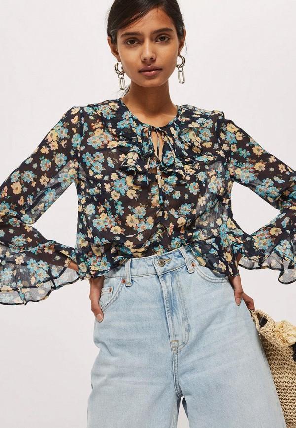 Купить Блуза Topshop, TO029EWBGLE3, синий, Весна-лето 2018