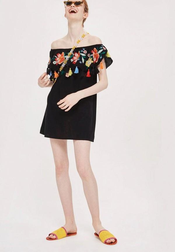 Купить Платье Topshop, TO029EWBNNW3, черный, Весна-лето 2018