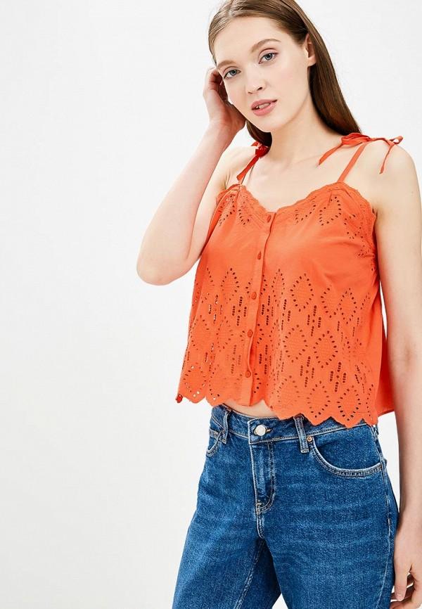 Купить Топ Topshop, TO029EWBOQR8, оранжевый, Весна-лето 2018