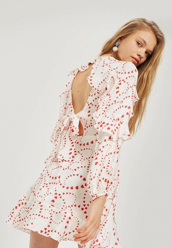 Купить Платье Topshop, to029ewbtov0, белый, Осень-зима 2018/2019