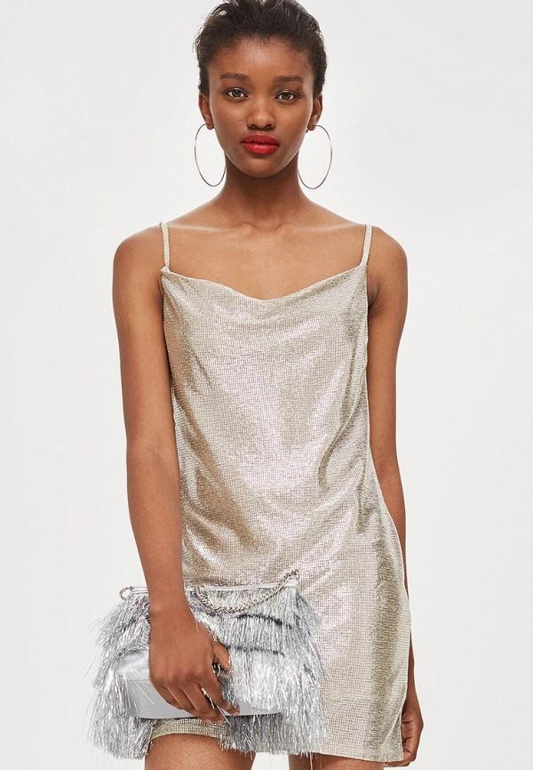 Купить Платье Topshop, to029ewbtow8, бежевый, Осень-зима 2018/2019