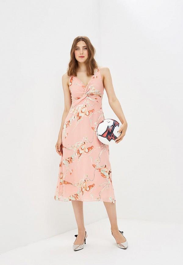 Купить Платье Topshop, TO029EWBTOX0, коралловый, Осень-зима 2018/2019