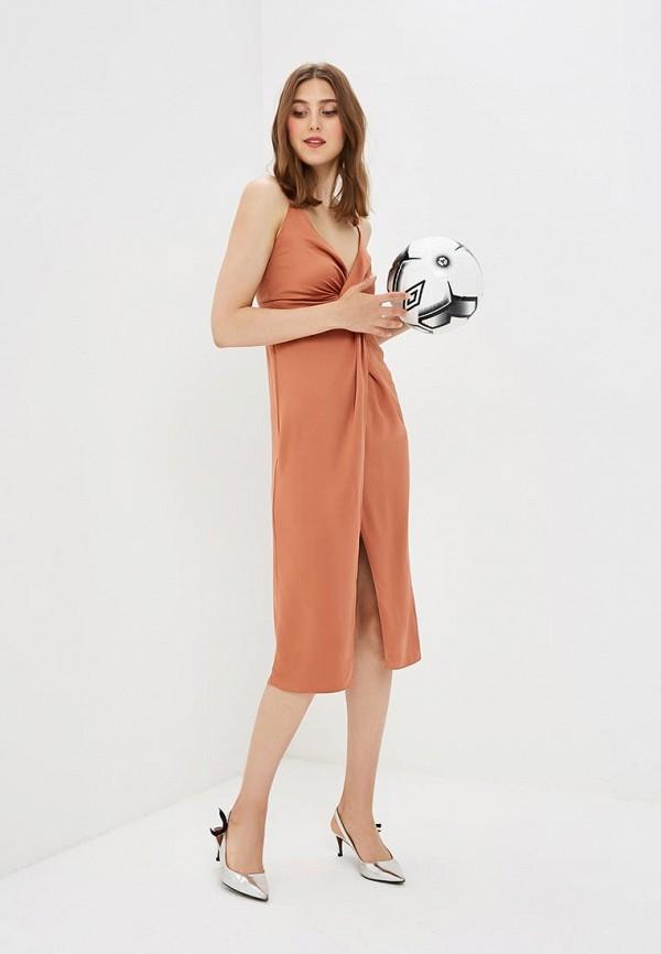 Купить Платье Topshop, TO029EWBTOX3, коричневый, Осень-зима 2018/2019