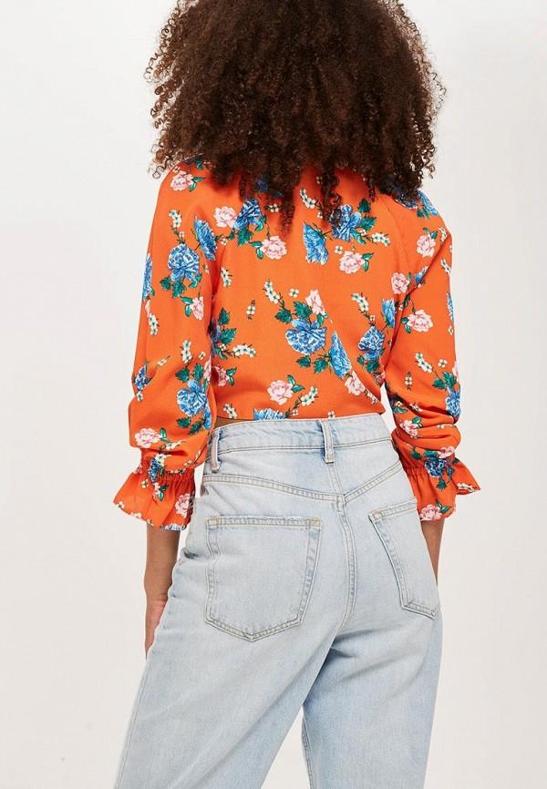 Фото 2 - женскую блузку Topshop оранжевого цвета