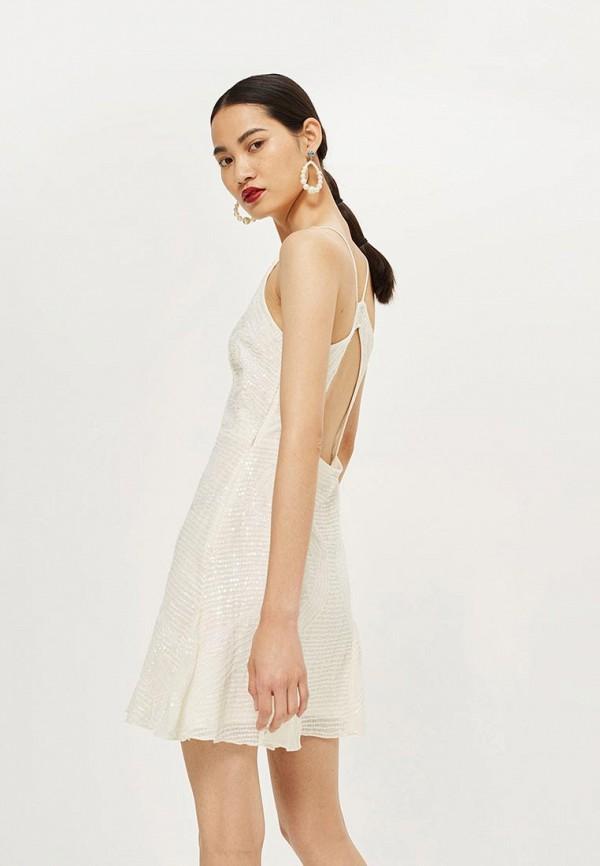 Фото 2 - женское вечернее платье Topshop белого цвета
