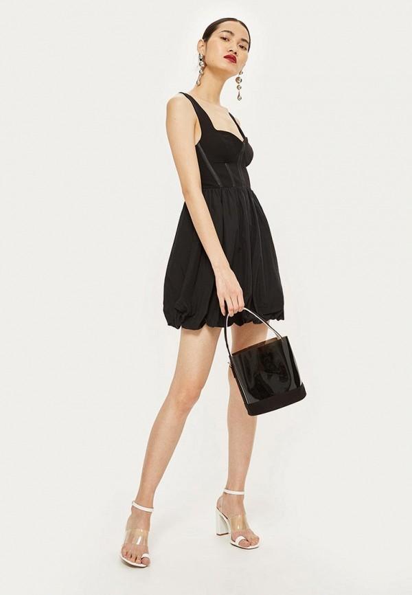 Купить Платье Topshop, TO029EWBVLY7, черный, Осень-зима 2018/2019