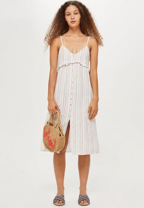 Купить Платье Topshop, TO029EWBYIO8, белый, Осень-зима 2018/2019