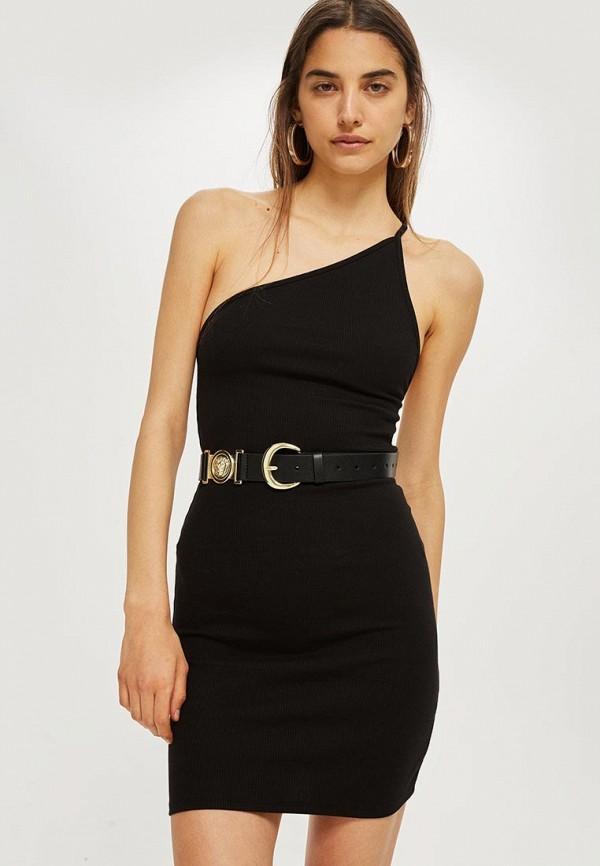 Платье Topshop, TO029EWBYIS4, черный, Осень-зима 2018/2019  - купить со скидкой