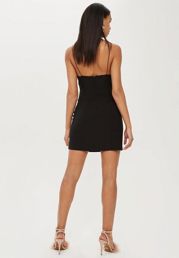 Фото 2 - женское вечернее платье Topshop черного цвета