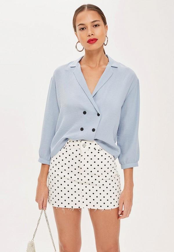 Купить Блуза Topshop, TO029EWCEVH4, голубой, Осень-зима 2018/2019