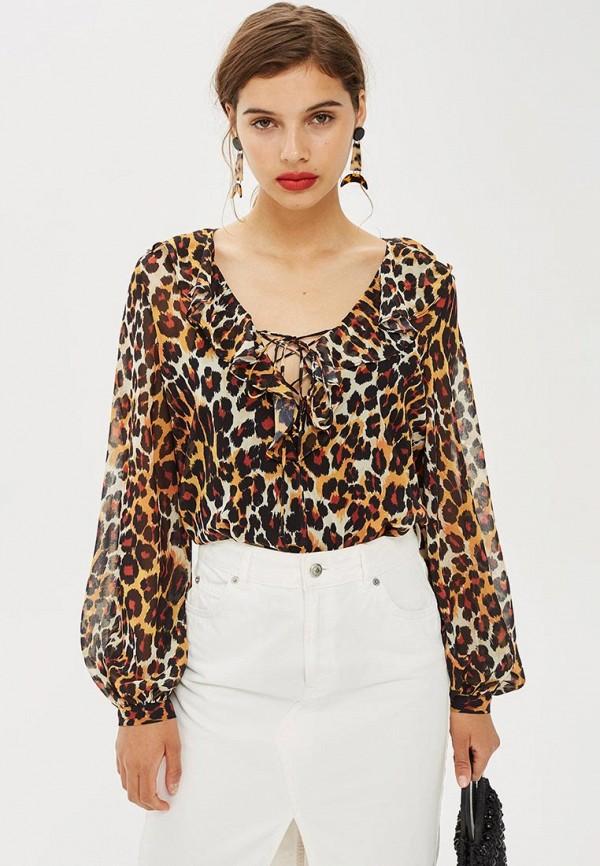 Купить Блуза Topshop, TO029EWCEVH5, коричневый, Осень-зима 2018/2019
