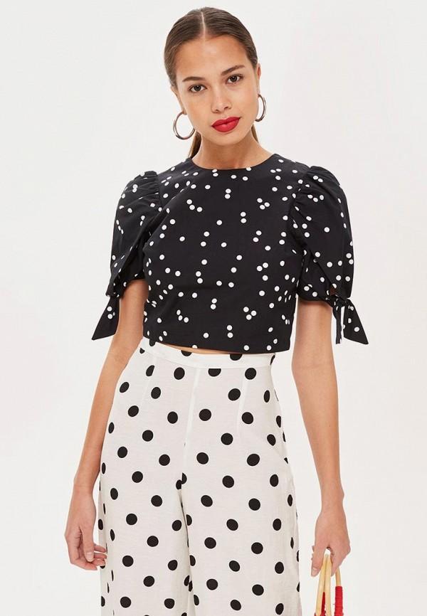 Купить Блуза Topshop, to029ewcevh7, черный, Осень-зима 2018/2019