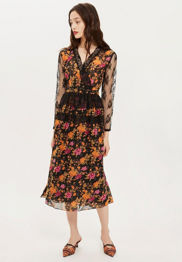 Купить Платье Topshop, TO029EWCEWC3, разноцветный, Осень-зима 2018/2019