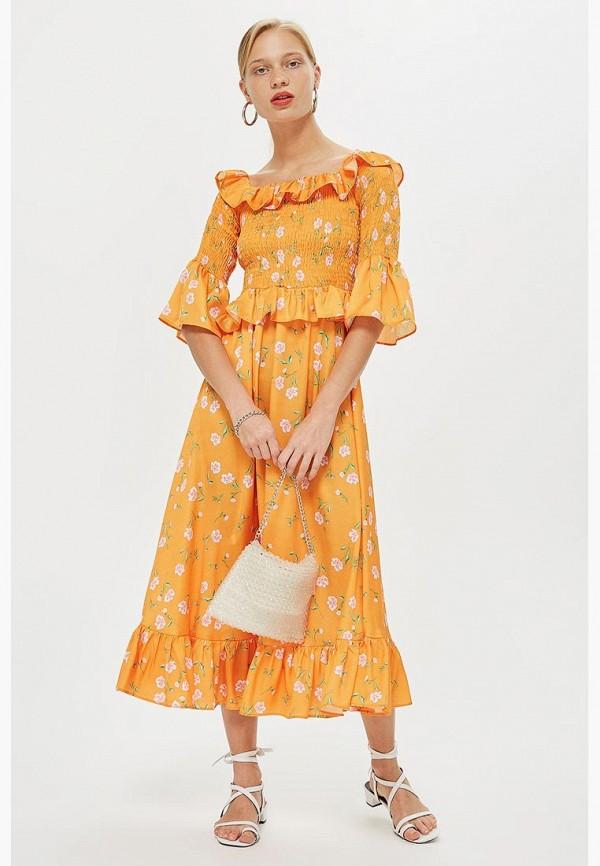 Купить Платье Topshop, TO029EWCFRH5, желтый, Осень-зима 2018/2019