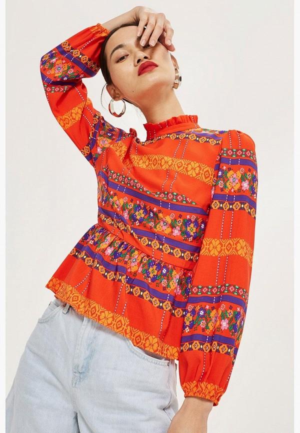 Купить Блуза Topshop, TO029EWCFRH7, оранжевый, Осень-зима 2018/2019