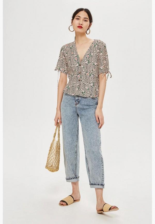 Купить Блуза Topshop, TO029EWCFRH9, бежевый, Осень-зима 2018/2019