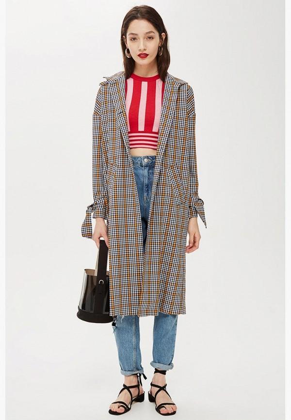 Купить Пальто Topshop, TO029EWCIMK9, серый, Осень-зима 2018/2019