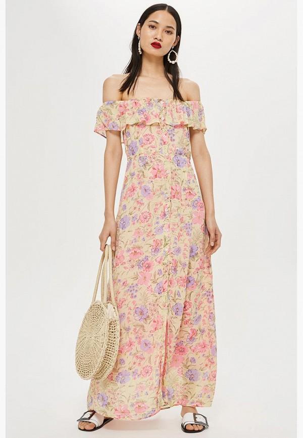 Купить Платье Topshop, TO029EWCIMM2, бежевый, Осень-зима 2018/2019