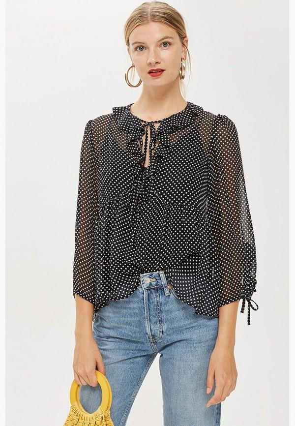 Купить Блуза Topshop, to029ewcimo1, черный, Осень-зима 2018/2019