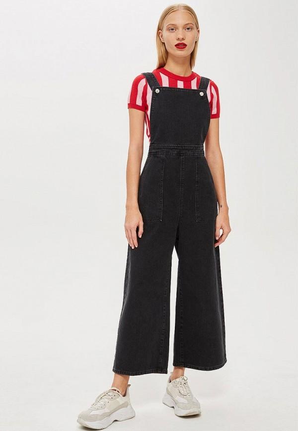 Купить Комбинезон джинсовый Topshop, TO029EWCLHL4, черный, Осень-зима 2018/2019