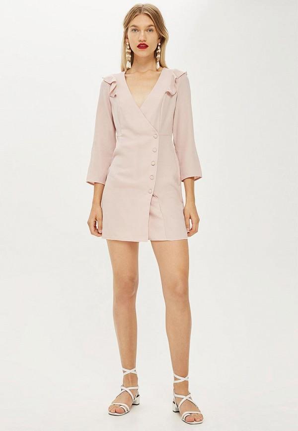 Купить Платье Topshop, TO029EWCLHL8, бежевый, Осень-зима 2018/2019