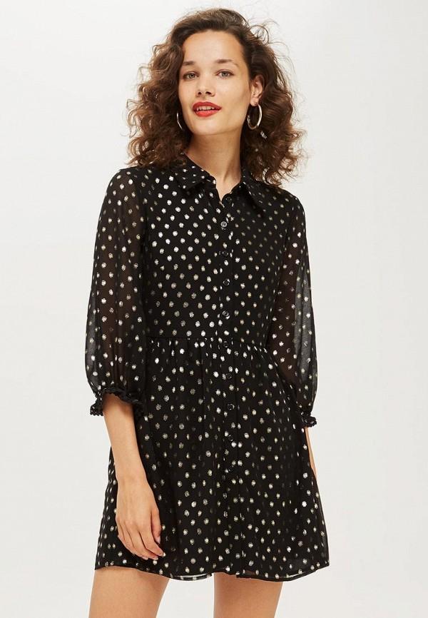 Купить Платье Topshop, to029ewcmpo0, черный, Осень-зима 2018/2019