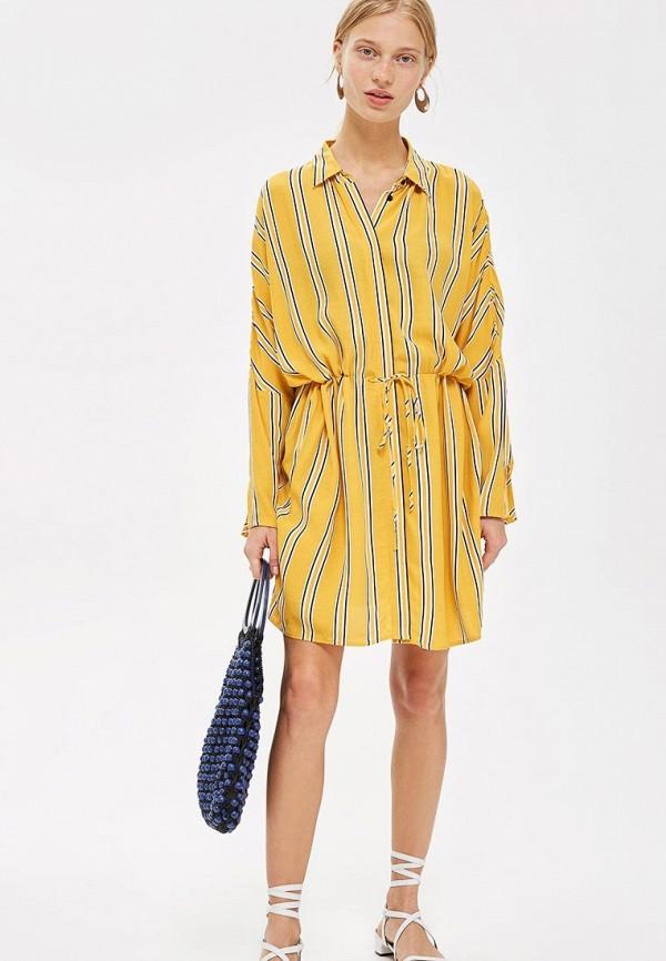 Купить Рубашка Topshop, TO029EWCMPO1, желтый, Осень-зима 2018/2019