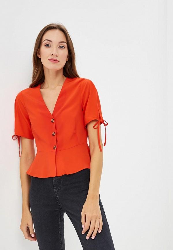 Купить Блуза Topshop, to029ewcmpo6, оранжевый, Осень-зима 2018/2019
