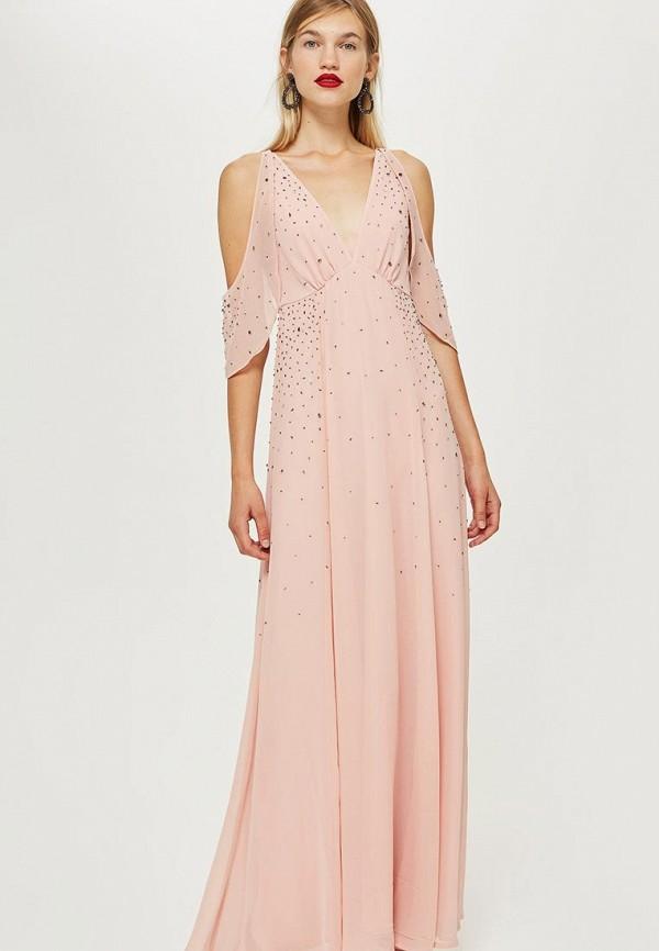 Купить Платье Topshop, TO029EWCMPP7, розовый, Осень-зима 2018/2019