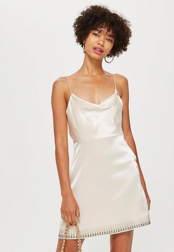 Купить Платье Topshop, TO029EWCMPP8, белый, Осень-зима 2018/2019