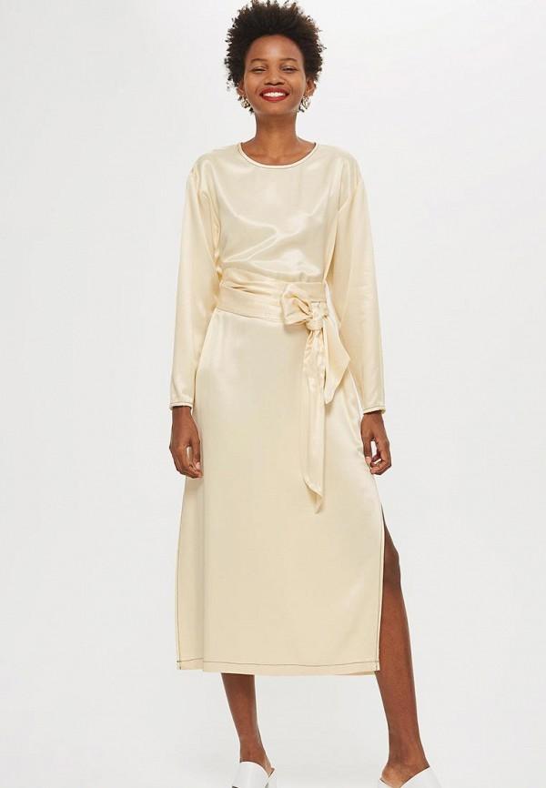 Купить Платье Topshop, TO029EWCOZG9, бежевый, Осень-зима 2018/2019