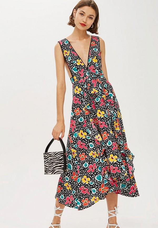 Купить Платье Topshop, TO029EWCOZH1, черный, Осень-зима 2018/2019