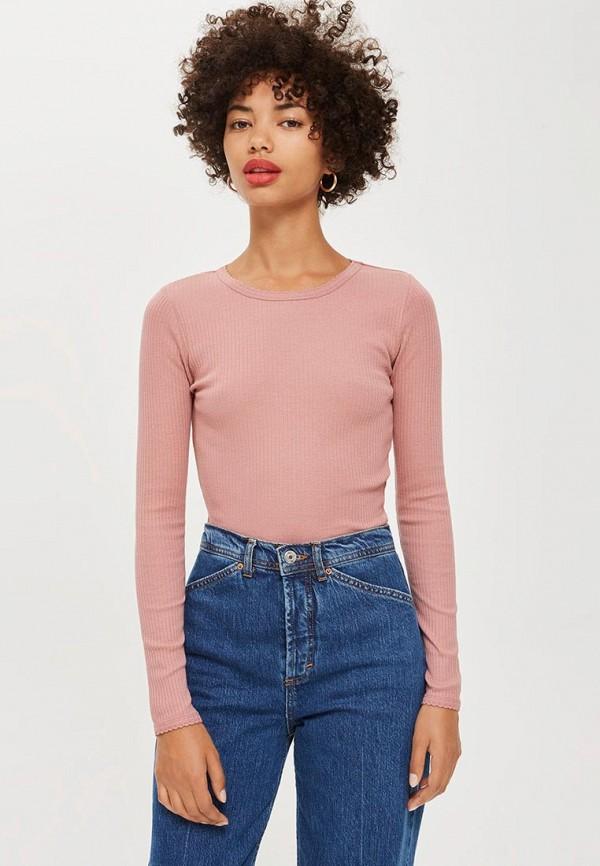 Купить Лонгслив Topshop, to029ewcrns8, розовый, Осень-зима 2018/2019