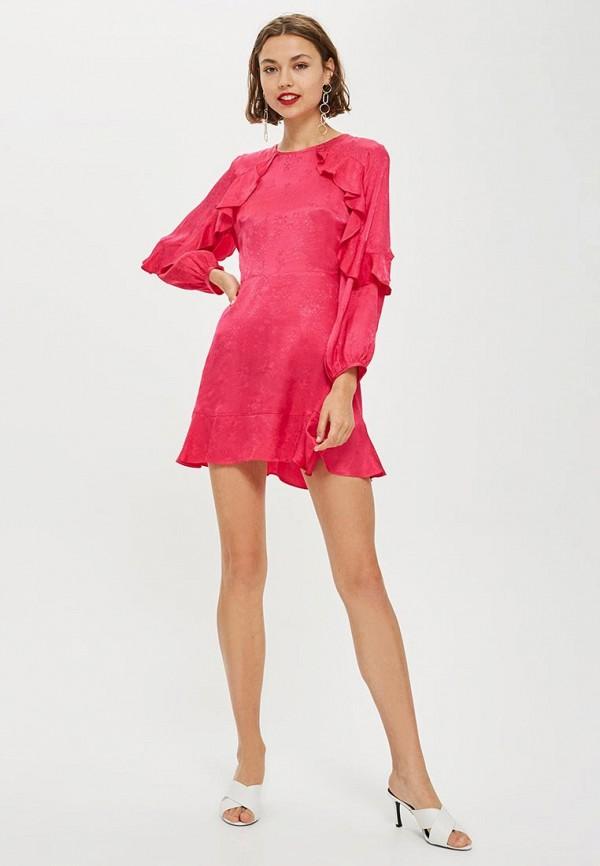 Купить Платье Topshop, to029ewcrnt0, розовый, Осень-зима 2018/2019