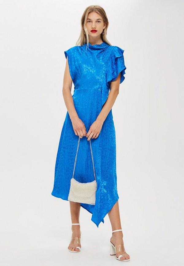 Купить Платье Topshop, TO029EWCRNT1, синий, Осень-зима 2018/2019