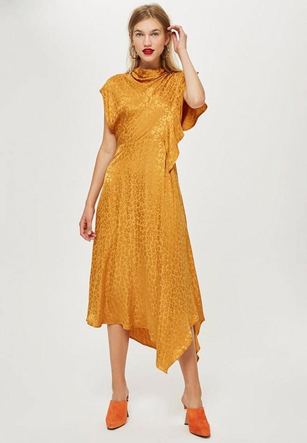 Купить Платье Topshop, TO029EWCRNT2, желтый, Осень-зима 2018/2019