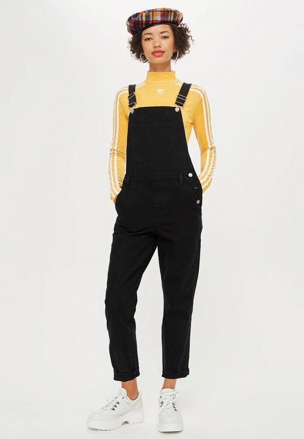 Купить Комбинезон джинсовый Topshop, TO029EWCSZO4, черный, Осень-зима 2018/2019