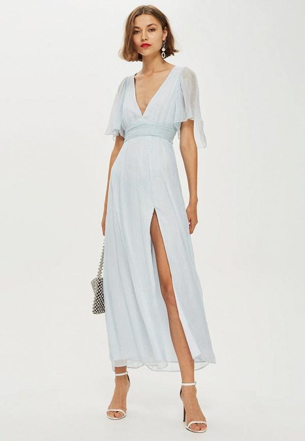 Купить Платье Topshop, TO029EWCSZR2, голубой, Осень-зима 2018/2019