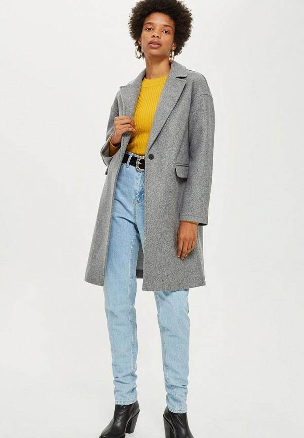 Купить Пальто Topshop, TO029EWCUWS4, серый, Осень-зима 2018/2019