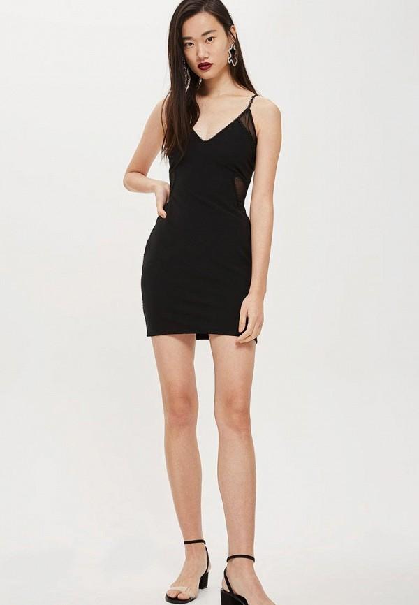 Купить Платье Topshop, TO029EWCUWS9, черный, Осень-зима 2018/2019