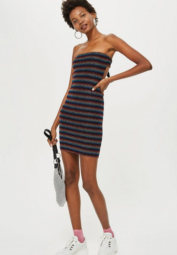 Купить Платье Topshop, to029ewcuwt0, разноцветный, Осень-зима 2018/2019